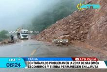 Carretera al Chaco tarijeño continúa intransitable por derrumbes